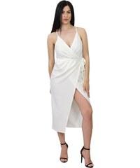 ac34e7787e46 The Fashion Project Ριπ εφαρμοστό φόρεμα με ζιβάγκο - Λευκό ...
