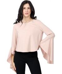 Miss Pinky Μπλούζα με καμπάνα μανίκι - ΡΟΖ 104-1148 d8d639a35c9