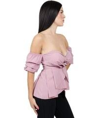 328af1cd4cc0 Miss Pinky Μπλούζα με έξω ώμους - ΡΟΖ 104-1190