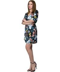 Miss Pinky Φόρεμα mini floral με ζώνη - ΜΑΥΡΟ 107-1338 6ef3fa6c747