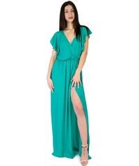 186c49768c8b Parabita Maxi αμάνικο βισκόζ φόρεμα με κρουαζέ ντεκολτέ. - Glami.gr