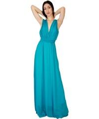 5553238776e6 Φόρεμα No Stress maxi κρουαζέ - ΣΜΑΡΑΓΔΙ 107-1354