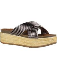 Γυναικεία Flatforms Χιαστί από την Envie Shoes 4 cm σε Ασημί Χρώμα κωδ. E64- af980796cd5