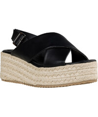 Γυναικεία Platforms με Ελαφριά Σχοίνινη Αντιλισθητική Σόλα ύψους 10 cm από  την Envie Shoes Χρώμα Μαύρο 1713c114fc1