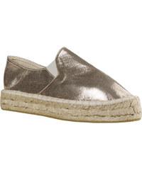 590561cc35b Γυναικεία Loafers από Ύφασμα της Smart Shoes Ύψους 4 cm Χρώμα Χρυσό κωδ.  S32-