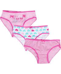 4c75f4ae529 Παιδικό-Εφηβικά Σλιπ Minerva LOVE CLOUDS για κορίτσι - 3 τεμάχια - 100% Αγνό