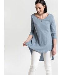 NAIBA Μπλούζα basic με μακρύ πίσω μέρος - Γαλάζιο - 04291018001 7efb6e800a6