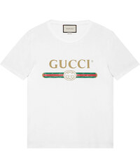 5d16a69656 Gucci Washed T-shirt with Gucci print - White