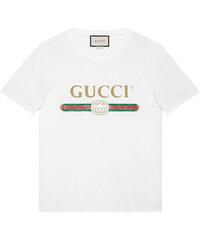 a5f8c1967edb Gucci Washed T-shirt with Gucci print - White