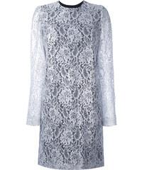 149b337142eb MSGM lace ruffle-back mini dress - Grey