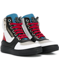 32ceed1f7b0 Roberto Cavalli Junior colour block hi-top sneakers - White