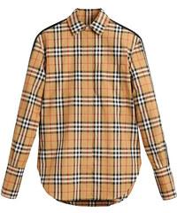 Burberry stripe dtail vintage check cotton shirt - Brown 8bdea3cfdc6