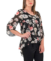770d1c5726ec RAVE Φλοραλ μπλούζα με δαντέλα - 50-52