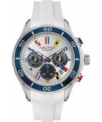Ρολόι Nautica NTC 12 Flags με χρονογράφο και λευκό λουράκι NAD16536G 33f9461d8b6