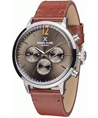 Ρολόι Daniel Klein Exclusive πολλαπλών ενδείξεων με καφέ λουράκι DK11350-6 8c1d84d74df