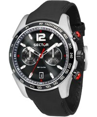 Ρολόι Sector 850 Racing πολλαπλών ενδείξεων με μαύρο λουράκι ... 384fdd63432