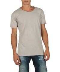 OEM Ανδρικό longline t-shirt γκρι μελανζέ με V cfadf769848