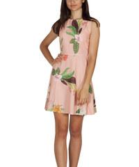 7ed582633463 Migle + me αμάνικο φόρεμα ροδακινί με ανοιχτή πλάτη