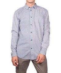 Anerkjendt ανδρικό πουκάμισο Gavian λευκό με μπλε πριντ b715372b9fd