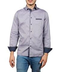 b4a0951566ef Best Choice Ανδρικό slim fit μακρυμάνικο πουκάμισο μωβ