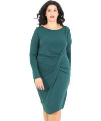 1e433e50a687 e-xclusive Κρεπ μίντι φόρεμα με πιέτες