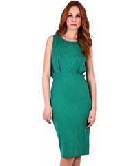 918d4491a549 e-xclusive Πράσινο μίντι εφαρμοστό φόρεμα με ανοιχτή πλάτη