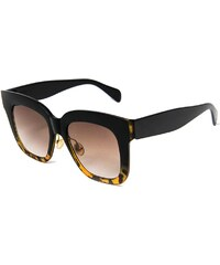 OCEAN HARLEM SUNGLASSES SHINY BLACK DEMY BROWN-BROWN LENS 0107da9ee9a