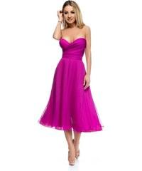82ee33572c6e RO FASHION 9254 RO Εντυπωσιακό στράπλες μίντι φόρεμα - Φούξια