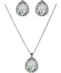 Paraxenies Νυφικό σέτ σκουλαρίκια και κολιέ συλλογή Bridal 2019 από ασήμι  με πέτρες Swarovski 3041d10e535