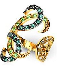 ec902c6143 Paraxenies Δαχτυλίδι με πέτρες Swarovski collection Arabian Nights από  επιχρυσωμένο ασήμι