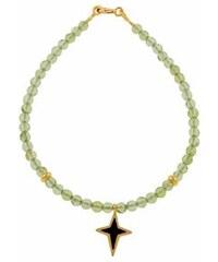 Paraxenies Βραχιόλι χρυσό Κ14 με ορυκτές χάντρες και σταυρούδακι και ματάκι 1682578771d