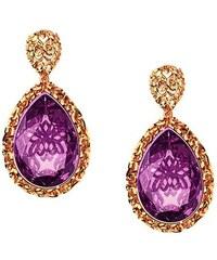 Paraxenies Εντυπωσιακό ζευγάρι σκουλαρίκια συλλογή arabesque από ρόζ  επιχρυσωμένο ασήμι με πέτρες Swarovski 198a0753976