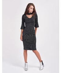 311256ab9d79 The Fashion Project Ριπ πλεκτό εφαρμοστό φόρεμα με ζιβάγκο - Μαύρο ...