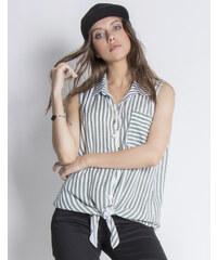 d9da2b30d5c3 Issue Fashion Αμάνικο ριγέ πουκάμισο