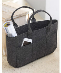 9307751158 Shopping Bag Pocket Felt Bags by JASSZ FE-32209 PFS - Charcoal Melange