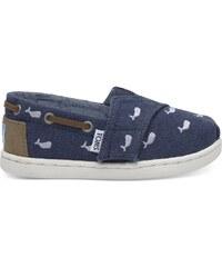 6bc94f955e2 TOMS Navy Παιδικά Whale Embroidery Bimini Tiny Παπούτσια 10011564 - Μπλέ