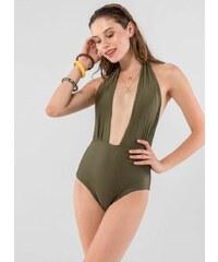 The Fashion Project Ολόσωμο μαγιό με ανοιχτή πλάτη - Χακί - 05210022001 fd8841a4673