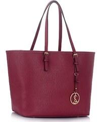 5be7a94fcf LS Bags 1431 LS Γυναικεία μεγάλη Tote τσάντα LS00297 - Μπορντώ