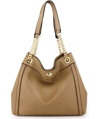 Anna Grace 1451 AG Γυναικεία τσάντα ώμου με χρυσή αλυσίδα AG00561 - Μπέζ 37e380810db