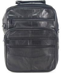 5d80796b291 Δερμάτινη Ανδρική Τσάντα Ώμου, χρώμα μαύρο, Κούρος Model 2005/10