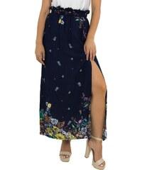 Γυναικεία μπλε maxi μακριά φούστα Benissimo φλοράλ 17685G 55ea944c525