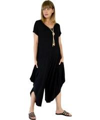 Miss Pinky Ολόσωμη φόρμα σαλβάρι με κοντό μανίκι - ΜΑΥΡΟ 109-1065 464b07e0c0e