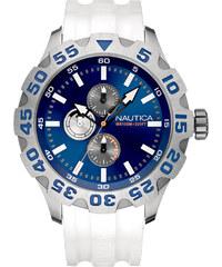 Ρολόι Nautica BFD100 με λευκό λουράκι A15567G 3383d14cdd9