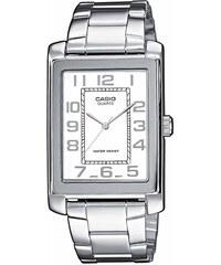 Ρολόι Casio Collection με ασημί μπρασελέ και λευκό καντράν MTP-1234PD-7BEF 4e834688316