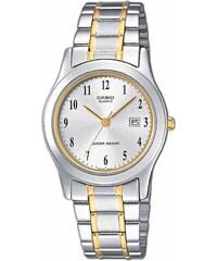 Γυναικείο ρολόι Casio Collection ημερομηνίας με ασημί και χρυσό μπρασελέ  LTP-1264PG-7BEF 397a9727a9e