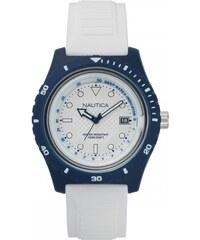 Ρολόι Nautica Ibiza βυθόμετρο με λευκό λουράκι και ημερομηνία NAPIBZ006 89ac40d4bc6