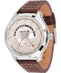 Ρολόι Sector Traveller Collection με καφέ λουράκι και ημερομηνία R3251504001 7cba72e42e9