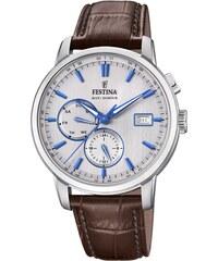 Ρολόι Festina πολλαπλών ενδείξεων με καφέ λουράκι F20280 2 208eb3225b9