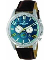 Ρολόι Daniel Klein Exclusive πολλαπλών ενδείξεων με καφέ λουράκι DK11497-5 163fd5519dd
