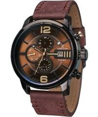 Ρολόι Daniel Klein Exclusive πολλαπλών ενδείξεων με καφέ λουράκι DK11429-4 6d1dc30cd32